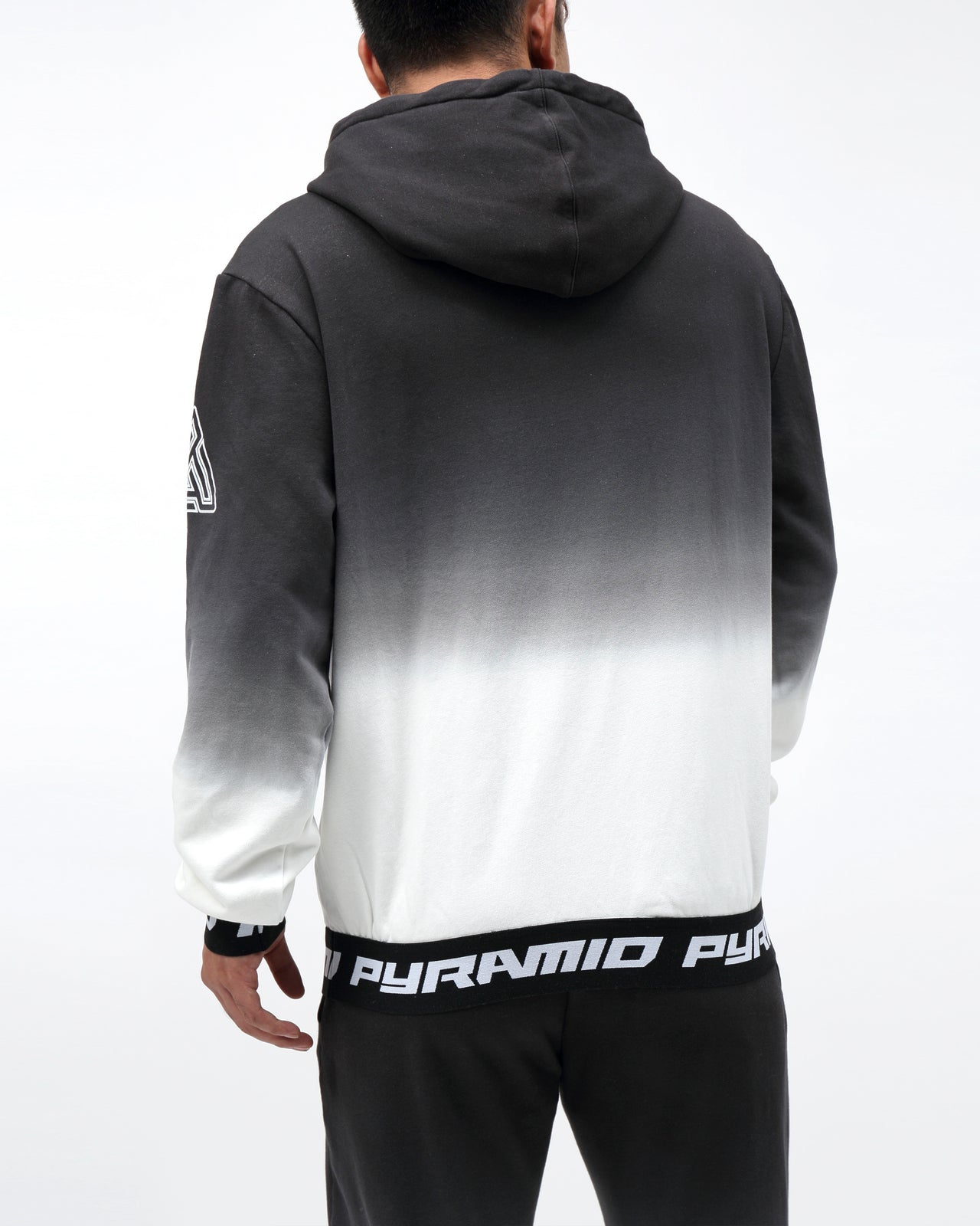 DIP DYE PASTEL HOODY - Color: BLACK