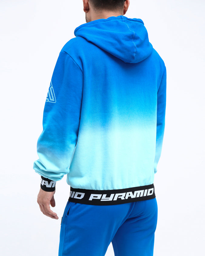 DIP DYE PASTEL HOODY - Color: BLUE