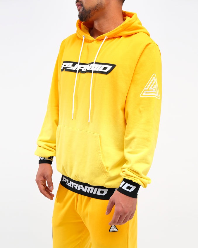 DIP DYE PASTEL HOODY - Color: YELLOW