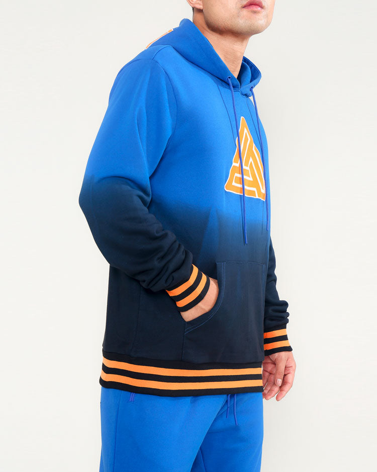 DIE DYE VARSITY HOODY-COLOR: BLUE
