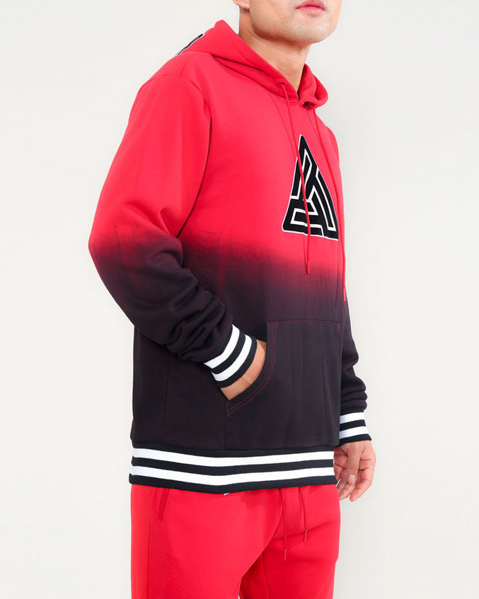 DIE DYE VARSITY HOODY-COLOR: RED