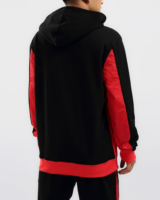 FLIGHT INSET HOODIE-COLOR: BLACK