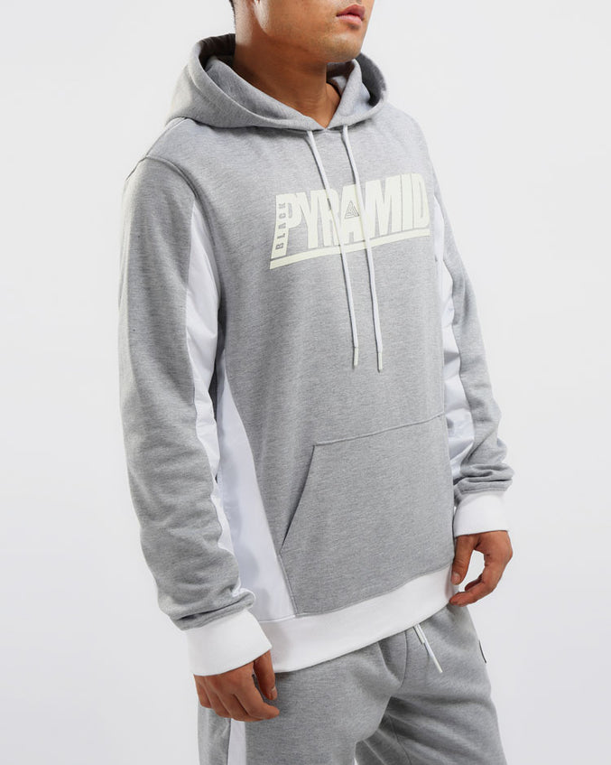 FLIGHT INSET HOODIE-COLOR: HEATHER GRAY