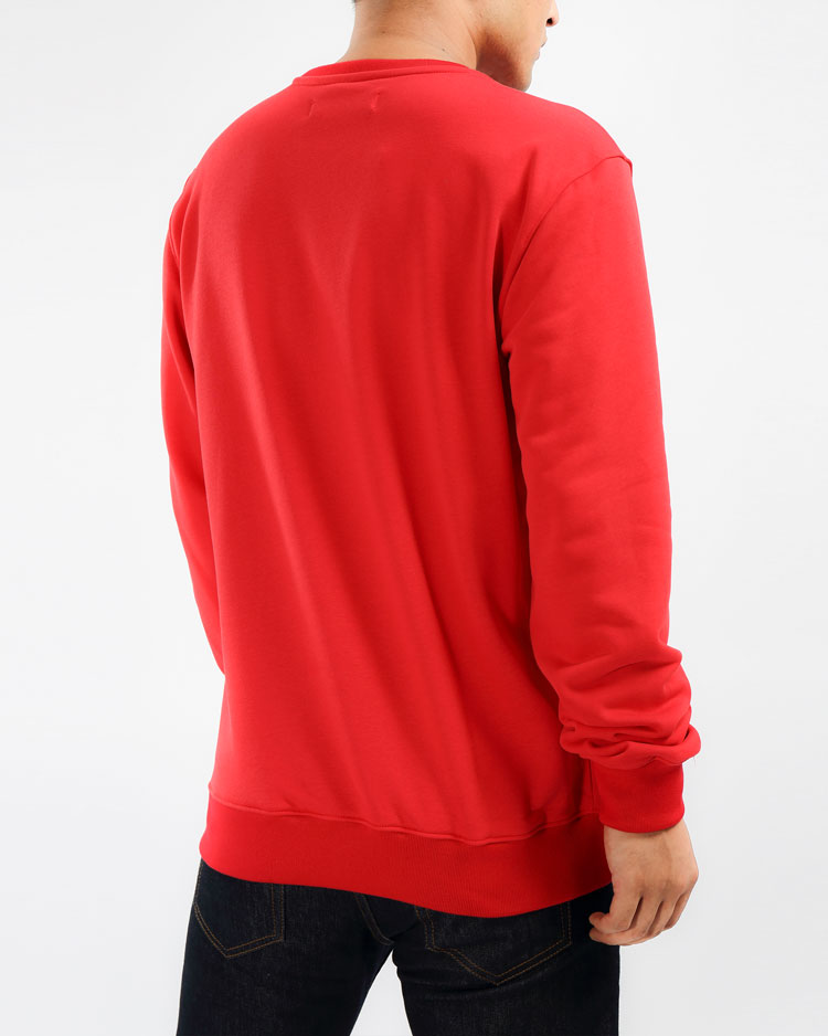 THE BIG OG DIP CREWNECK-COLOR: RED