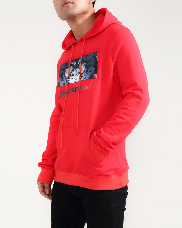 CRYING EYES LOGO HOODY-COLOR: RED