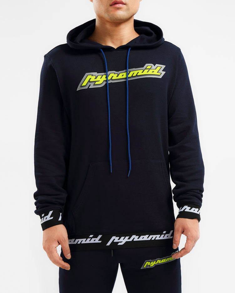 CORE 3D RUBBER PATCH HOODY-COLOR: NAVY