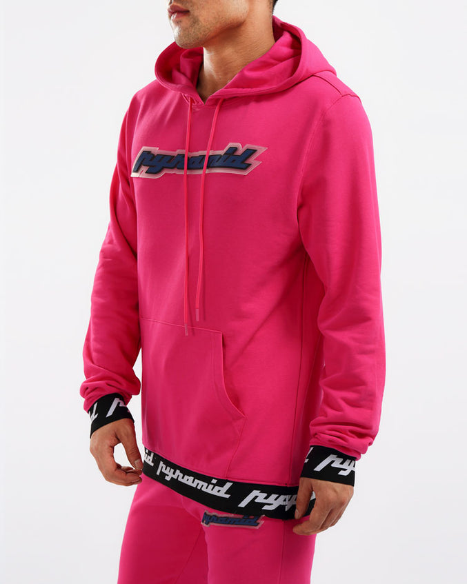 CORE 3D RUBBER PATCH HOODY-COLOR: PINK