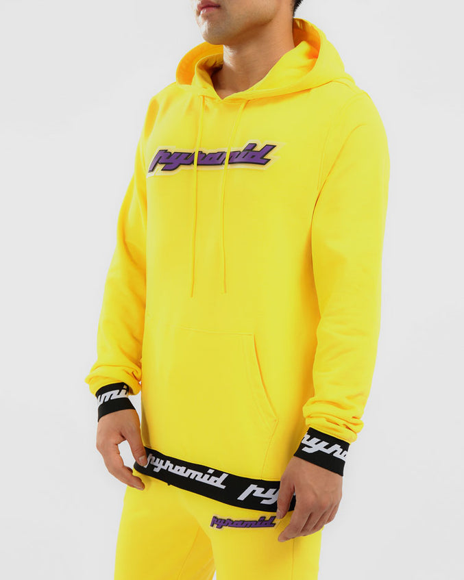 CORE 3D RUBBER PATCH HOODY-COLOR: YELLOW