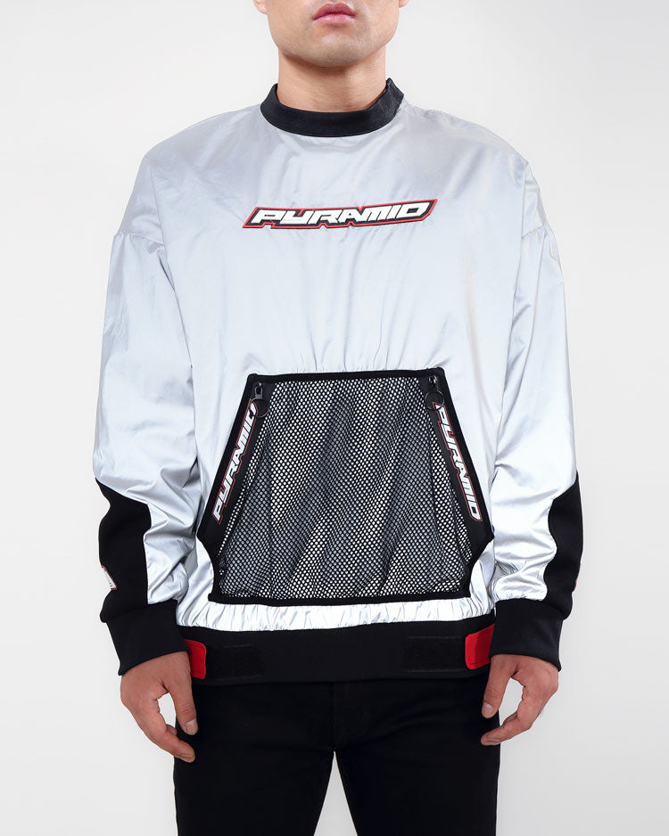 PYRAMID MESH POCKET PULLOVER