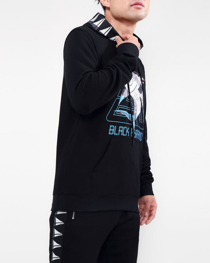 CYBER SHARK HOODY-COLOR: BLACK