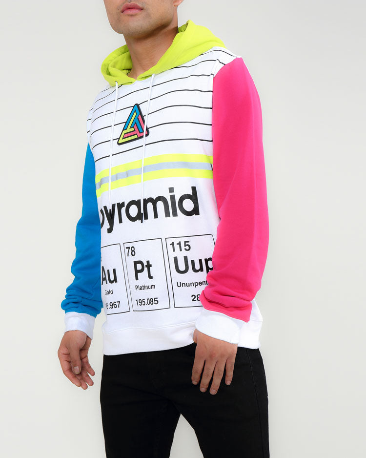 PYRAMID ELEMENTS HOODY-COLOR: WHITE