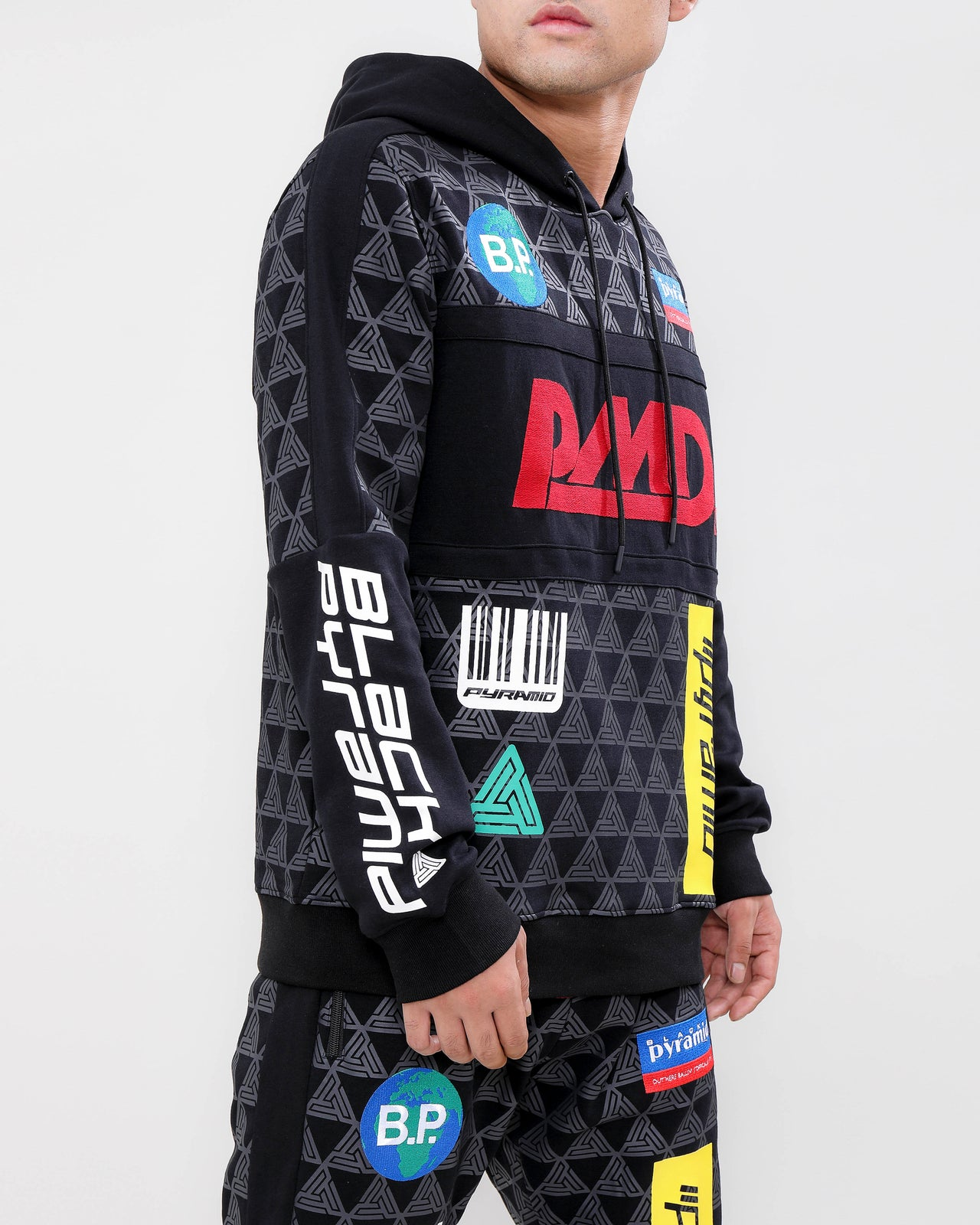 GRAND PRIX HOODY-COLOR: BLACK