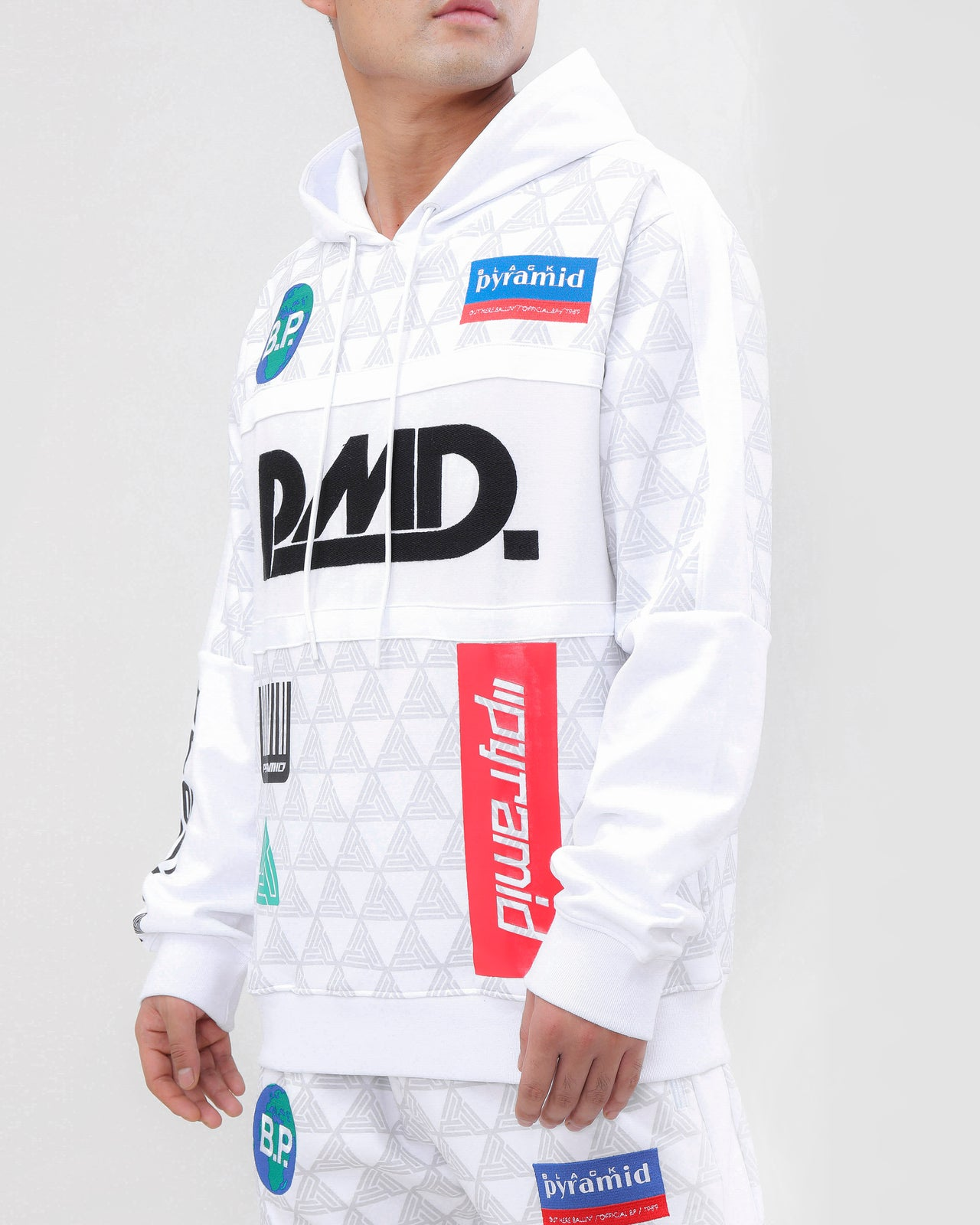 GRAND PRIX HOODY-COLOR: WHITE