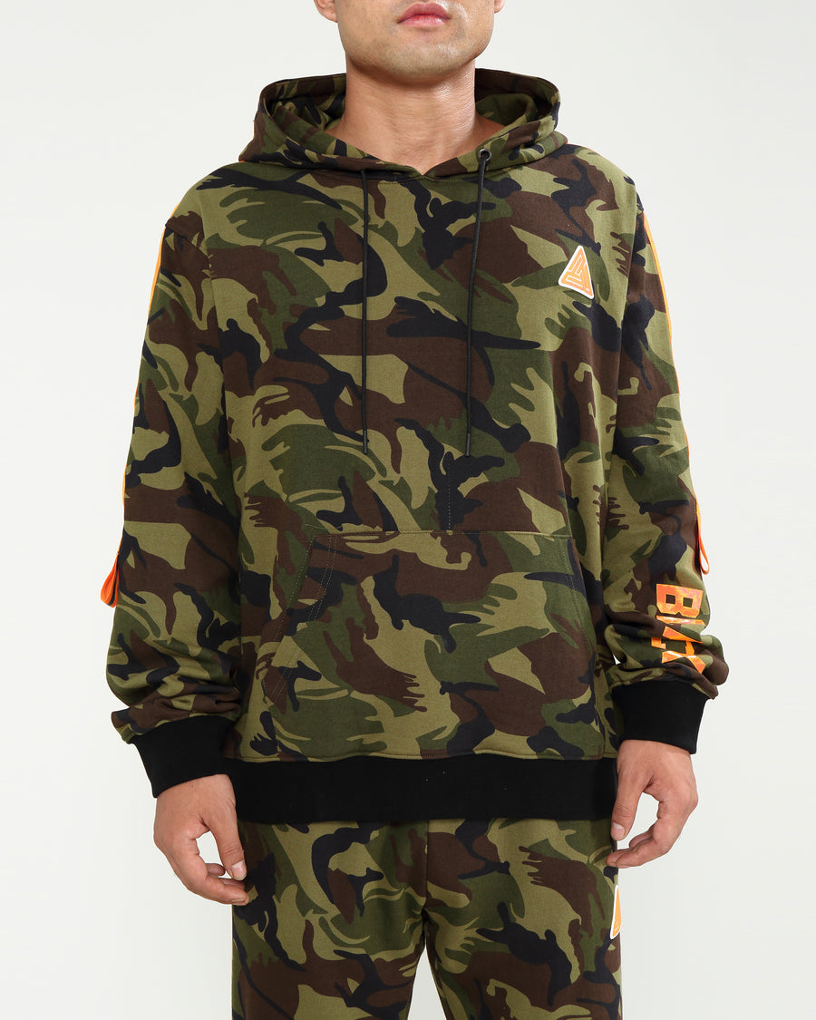 HIGH VIS STRIPE CAMO HOODY