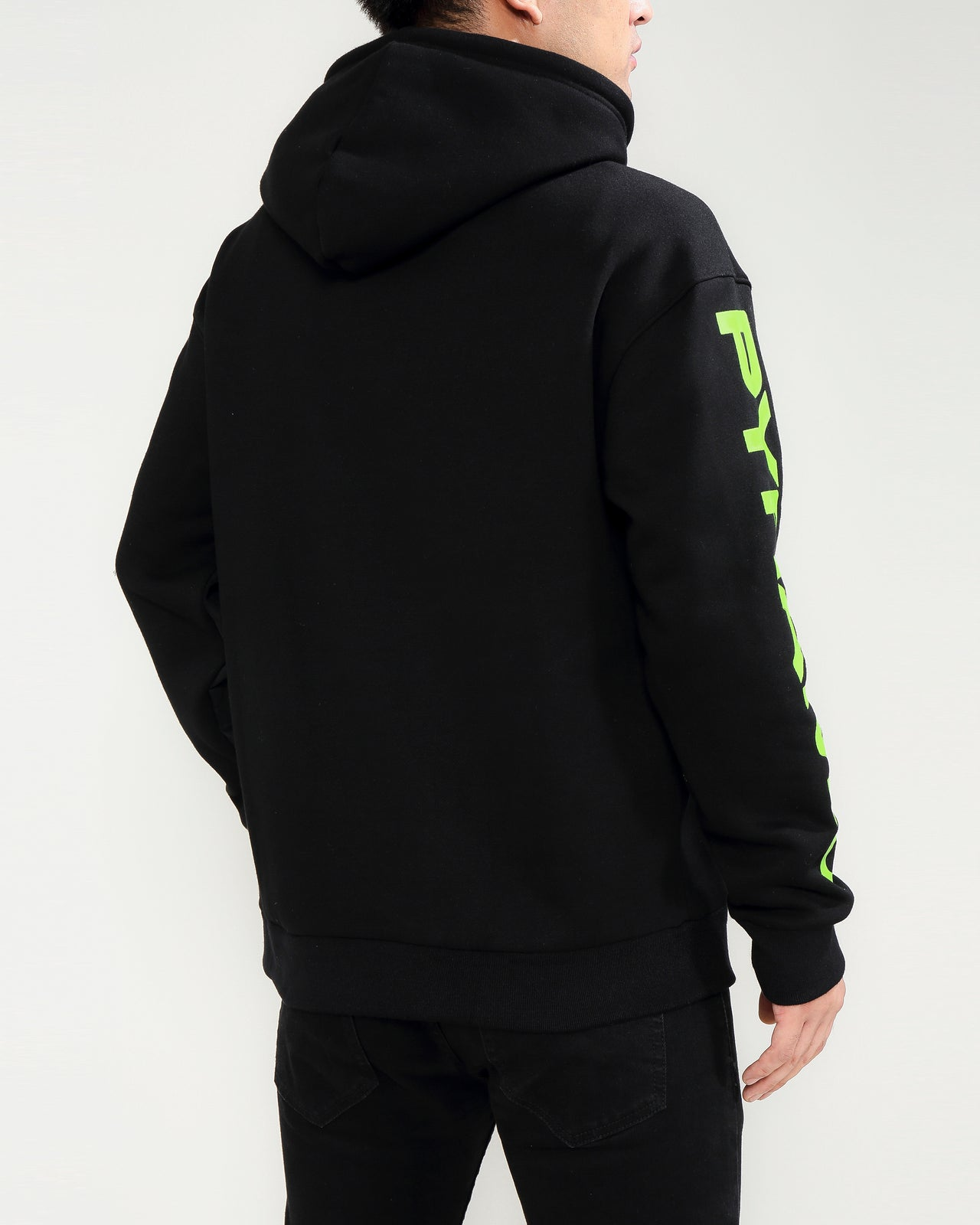 TOTAL COVERAGE LOGO HOODY-COLOR: BLACK