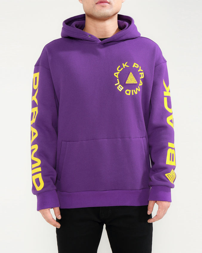 TOTAL COVERAGE LOGO HOODY-COLOR: PURPLE