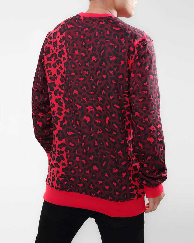 CHANGING SPOTS DRIP LOGO CREWNECK-COLOR: RED