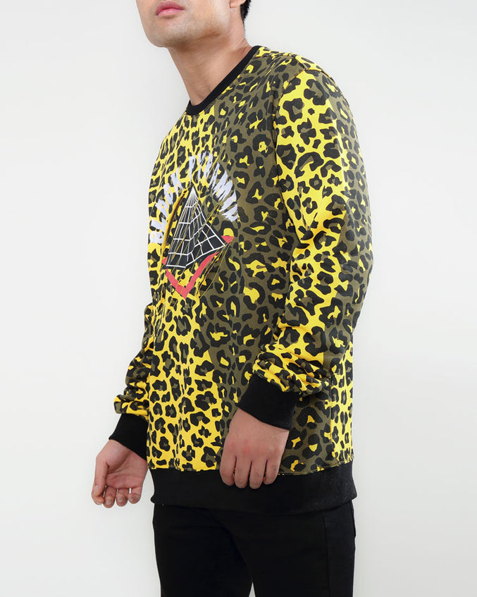CHANGING SPOTS DRIP LOGO CREWNECK-COLOR: YELLOW