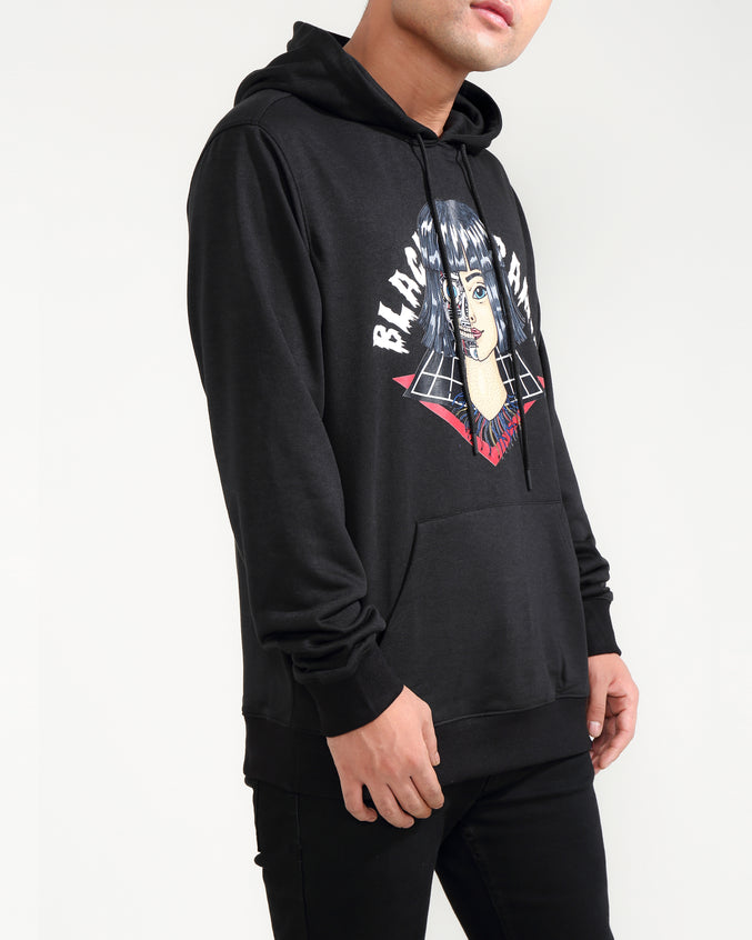 CYBORG GIRL HOODY-COLOR: BLACK