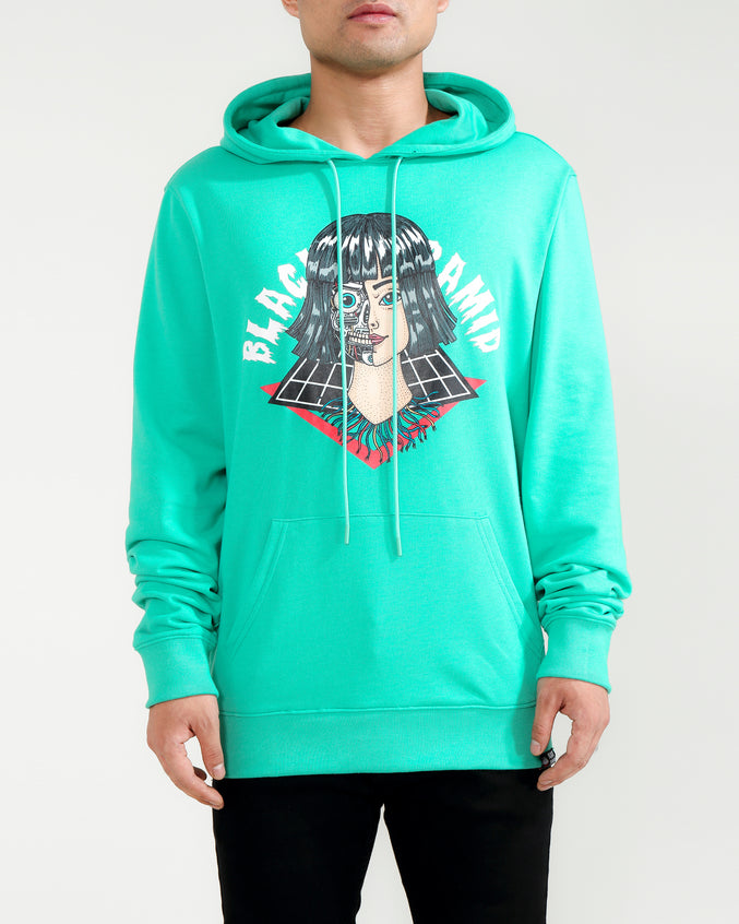 CYBORG GIRL HOODY-COLOR: TEAL