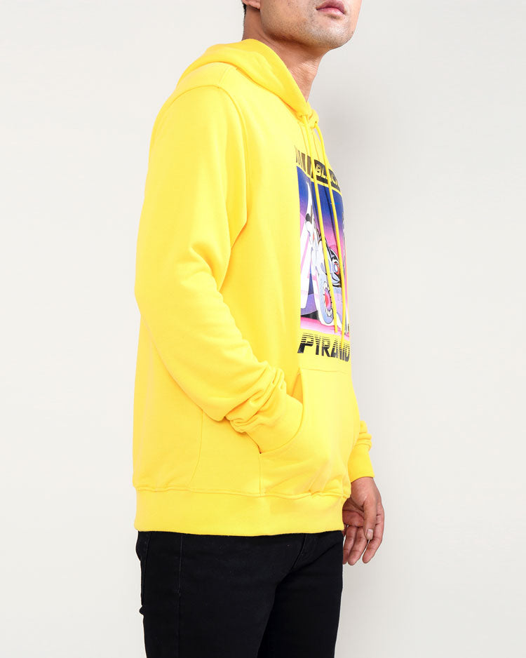SPEED GIRL HOODY-COLOR: YELLOW