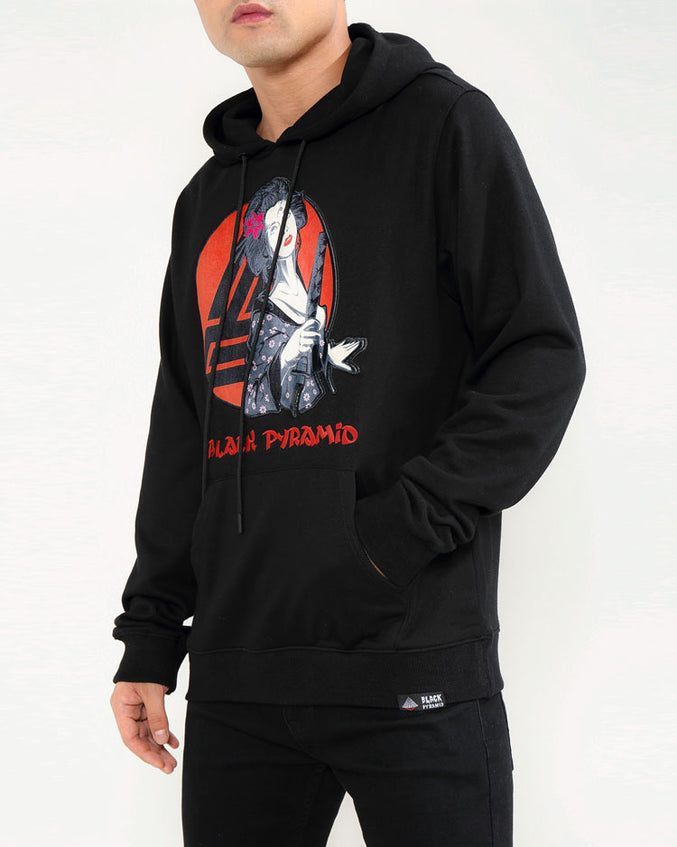 SAMURAI SUN UP HOODY-COLOR: BLACK