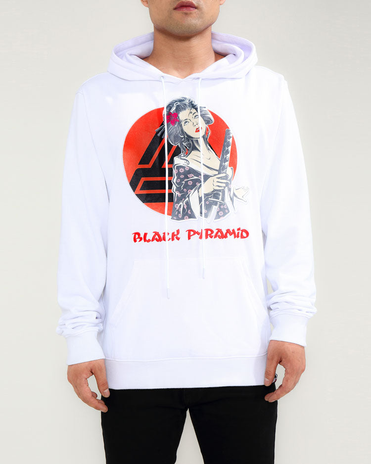 SAMURAI SUN UP HOODY-COLOR: WHITE