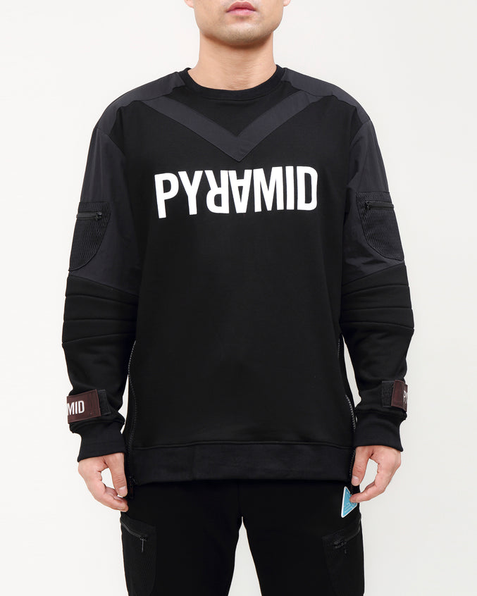 UNIFORM VIBE CREWNECK-COLOR: BLACK