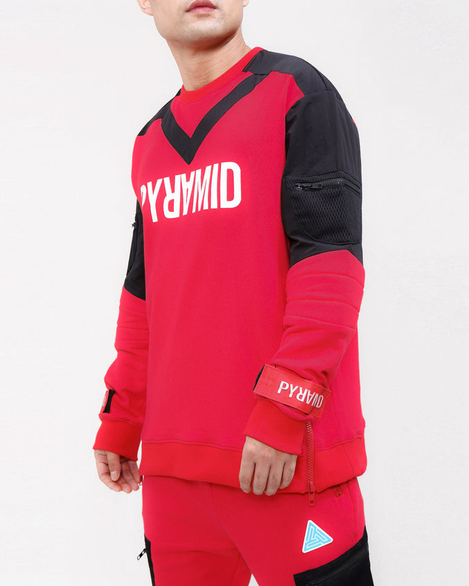 UNIFORM VIBE CREWNECK-COLOR: RED
