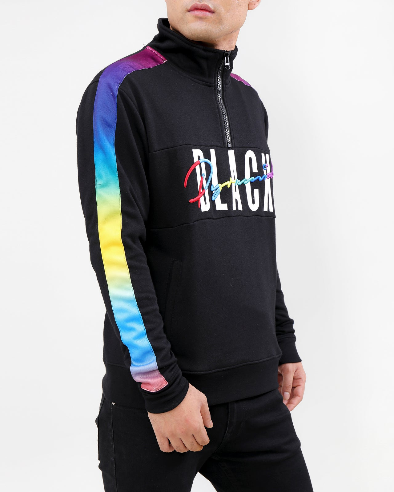 GRADIENT PULLOVER-COLOR: BLACK