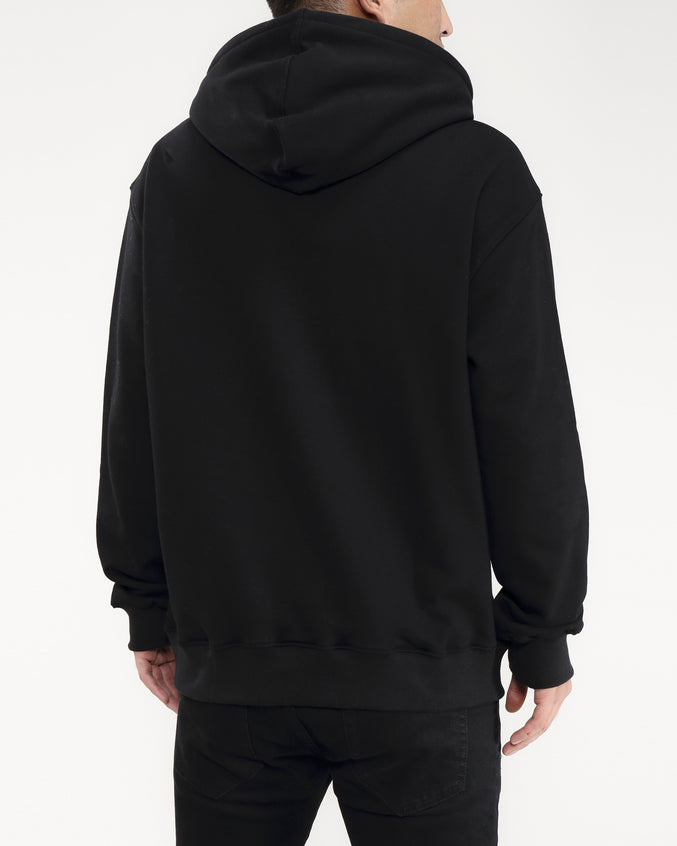 STONED DRIP LOGO HOODY-COLOR: BLACK
