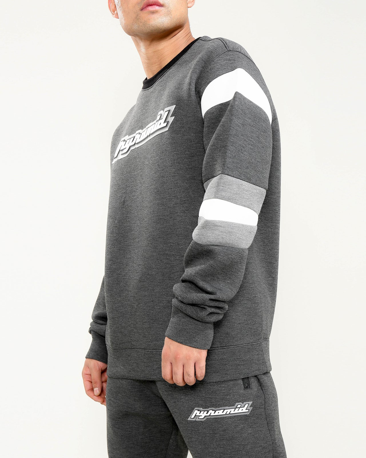 ARTICULATED ELBOW LOGO CREW-COLOR: BLACK