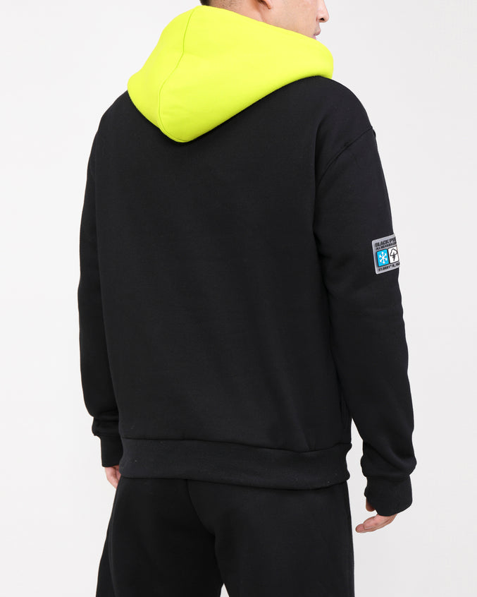 BIG AND TALL AWC HOODY-COLOR: BLACK