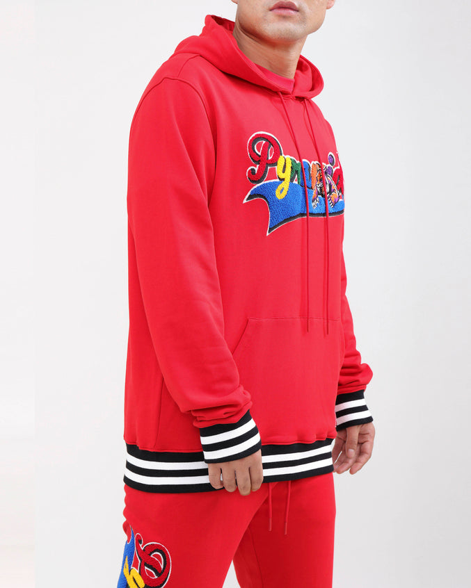PYRAMID HUNGRY HOODY-COLOR:RED