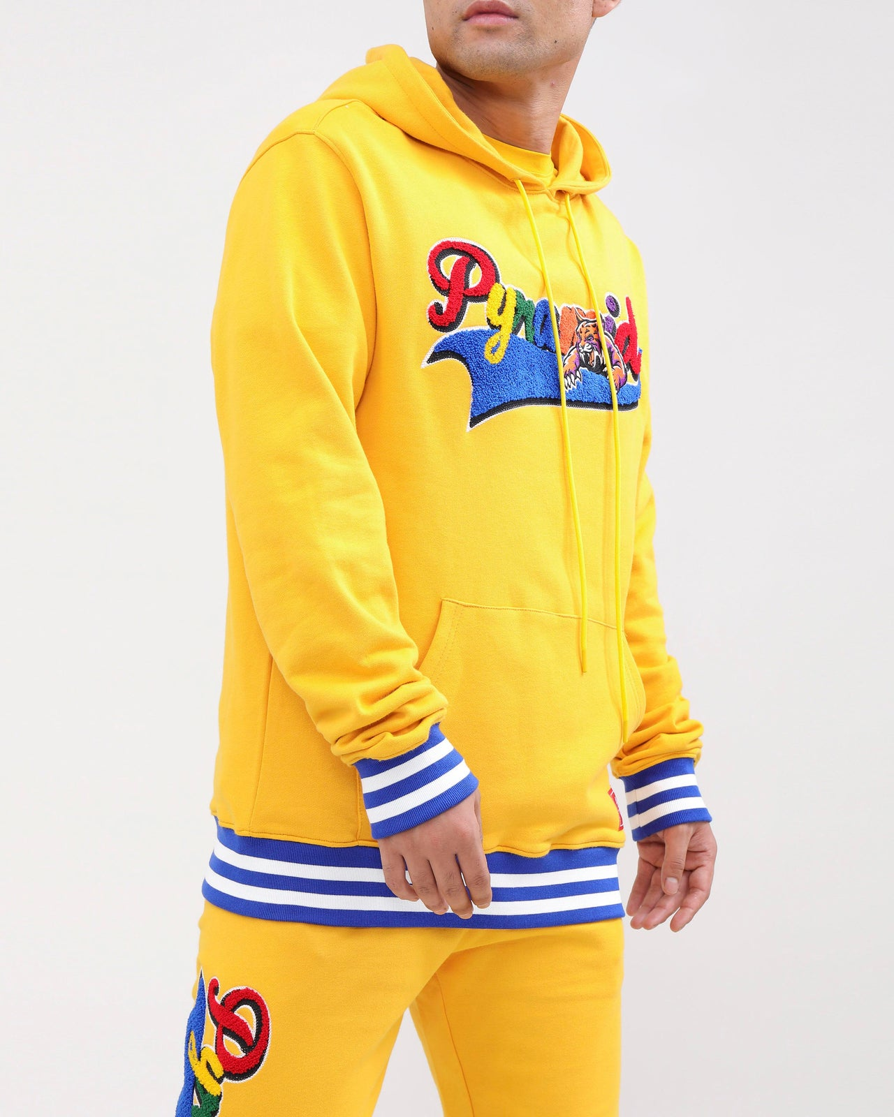 PYRAMID HUNGRY HOODY-COLOR: YELLOW