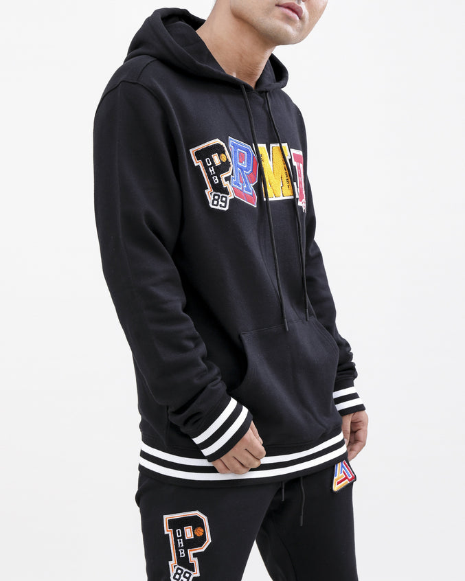 Varsity Collection Hoody-color: black