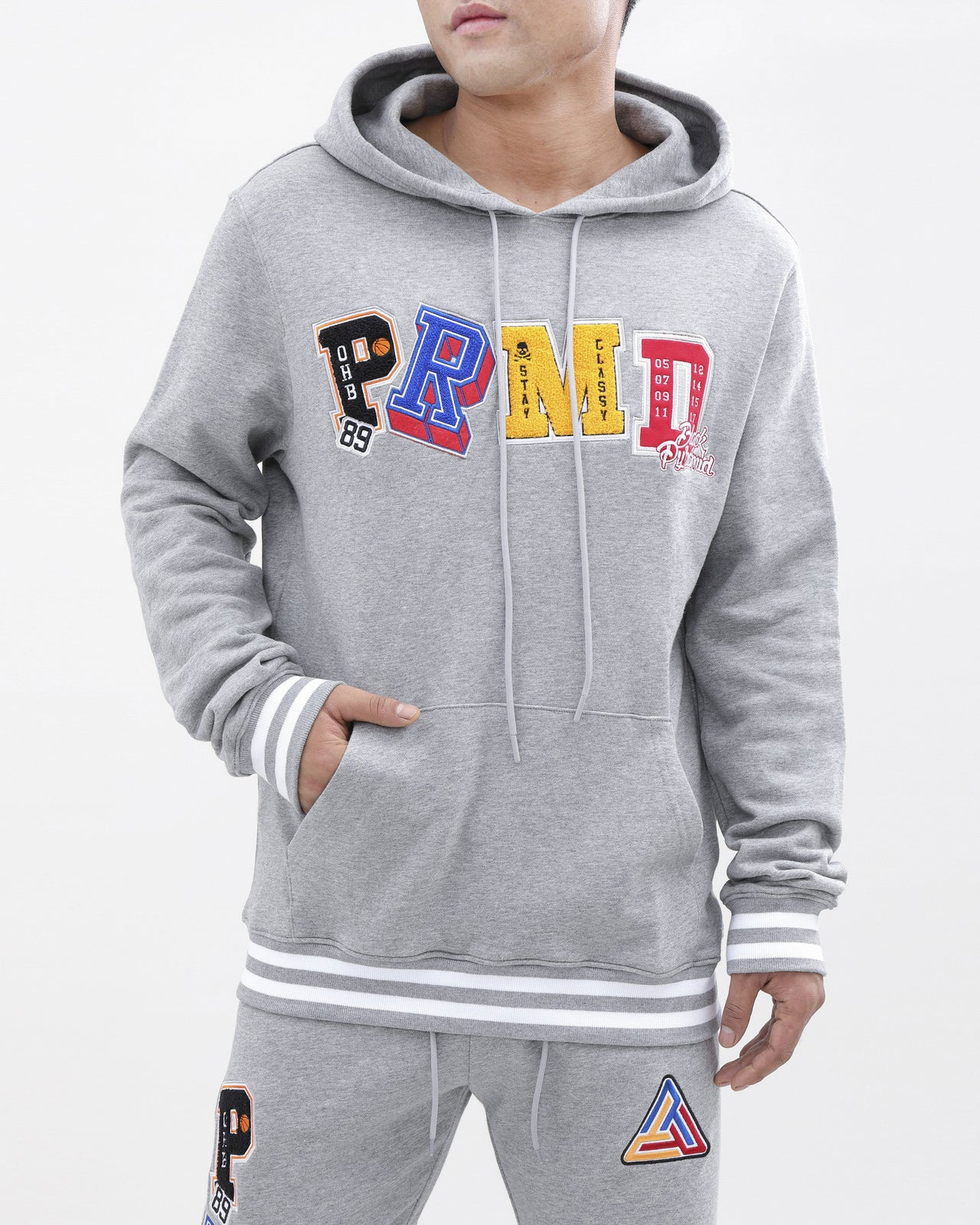 Varsity Collection Hoody-color: heather gray