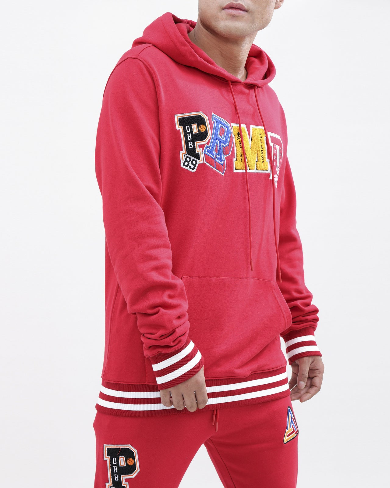 Varsity Collection Hoody-color: red