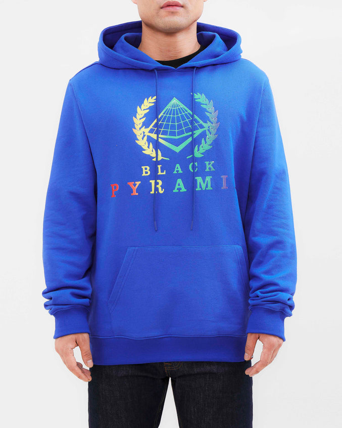 BP CREST RAINBOW HOODY-COLOR: BLUE