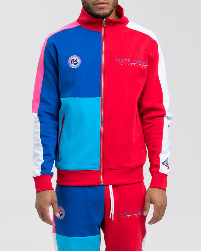 BP Athletic Color Track Jacket - Color: Red