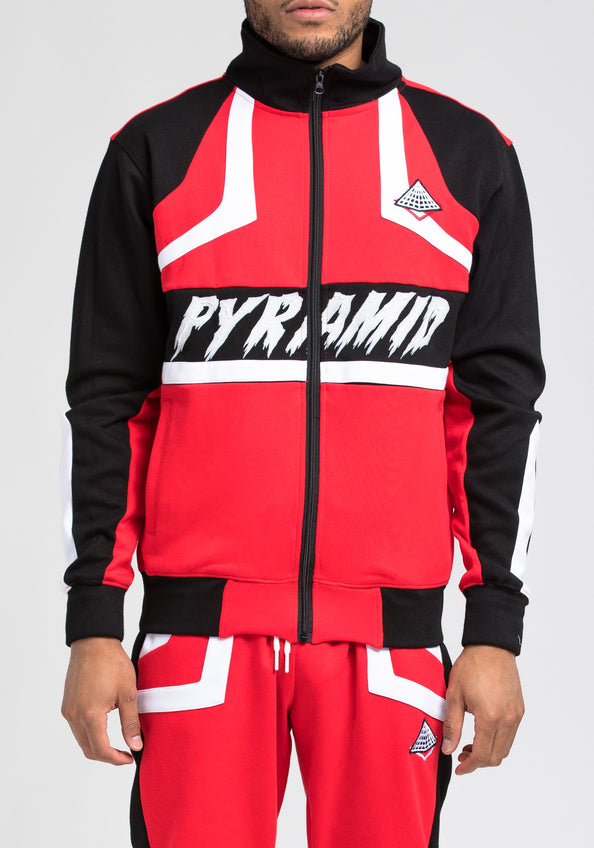 BP Cut and Sew Track Jacket - Color: RED
