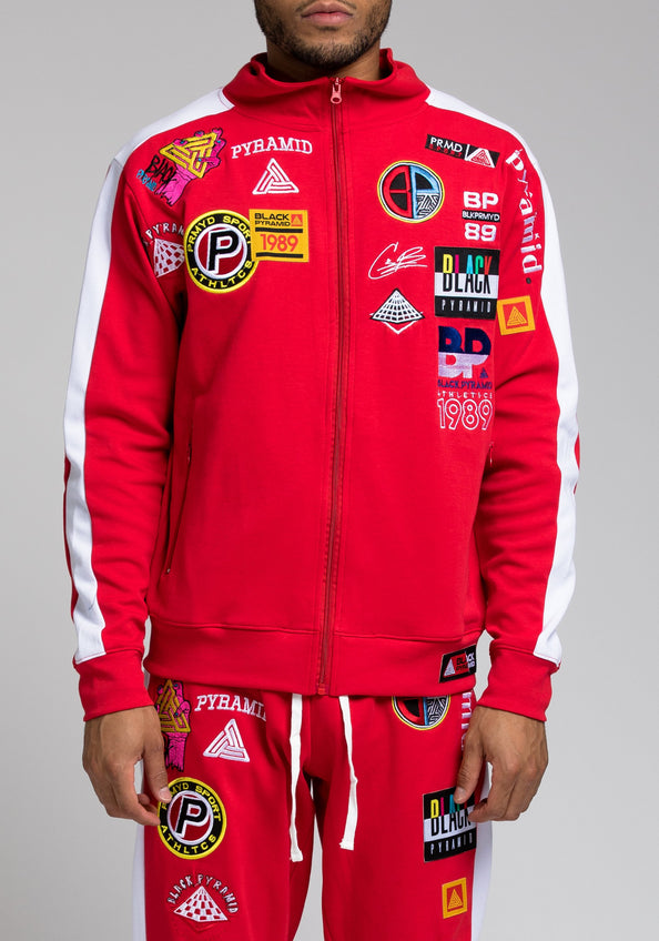 Future Patch Track Jacket - Color: RED