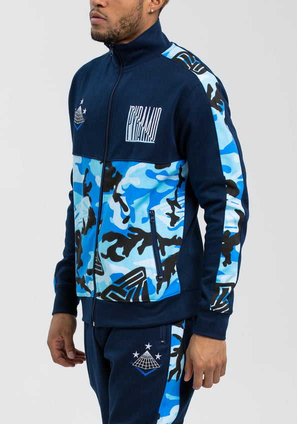 Camo Pyramid Track Jacket - Color: Blue