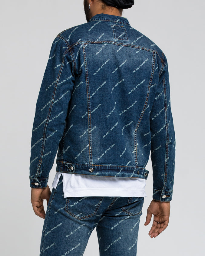 Black Pyramid Denim Jacket - Color: DARK WASH
