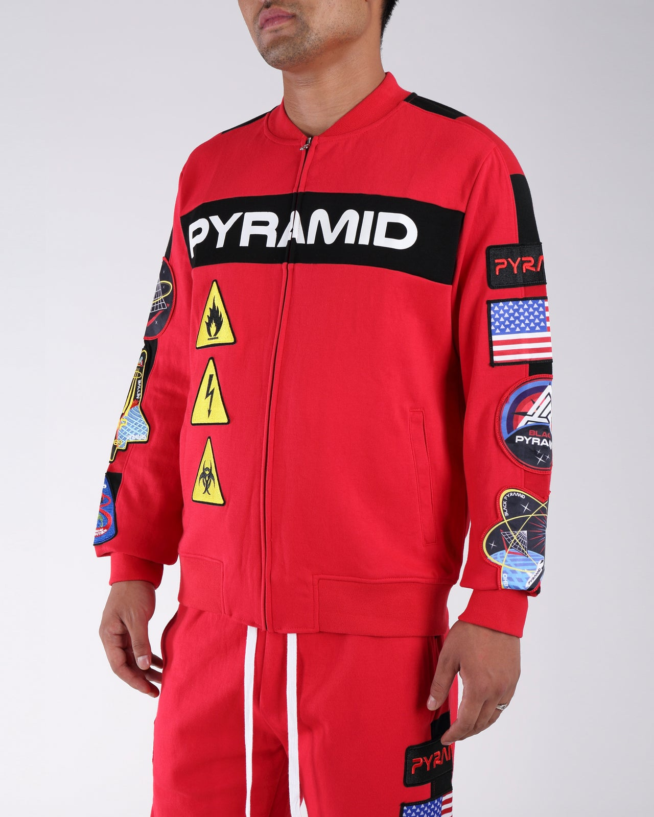 Bp Space Track Jacket - Color: RED