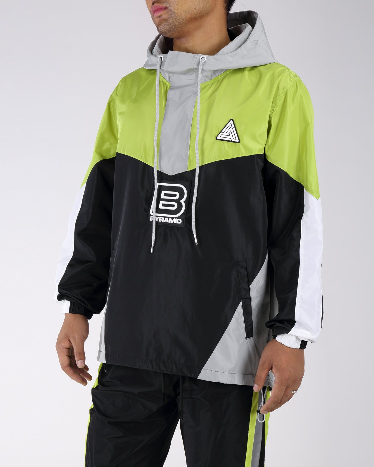 B Pyrmaid Windbreaker - Color: Green