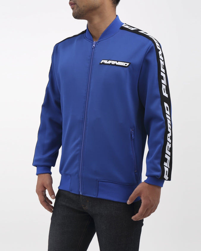 Pyramid Taping Track Jacket - Color: Blue