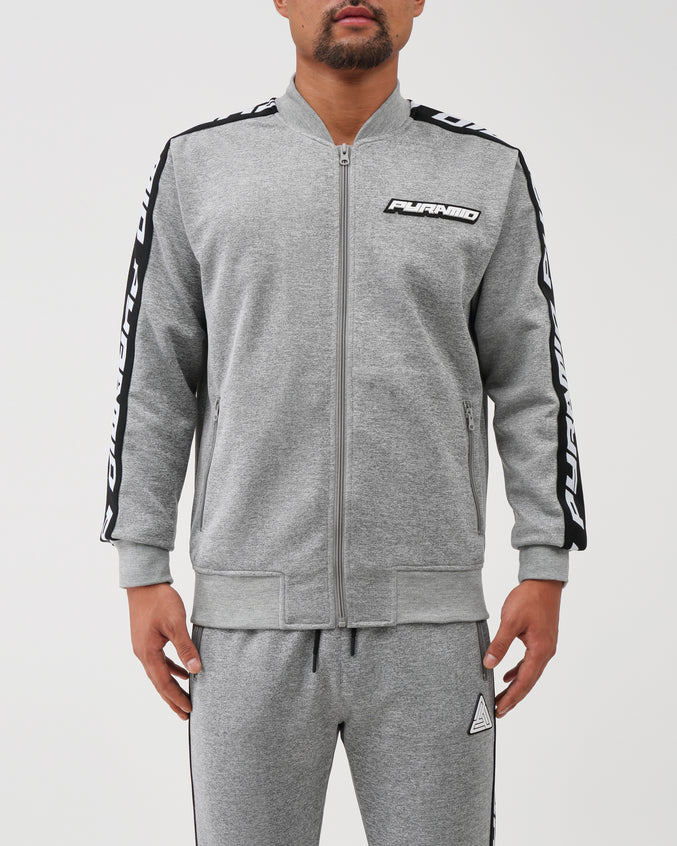 Pyramid Taping Track Jacket - Color: Gray