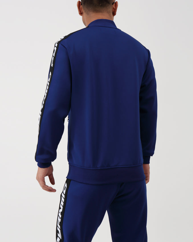 Pyramid Taping Track Jacket - Color: Navy