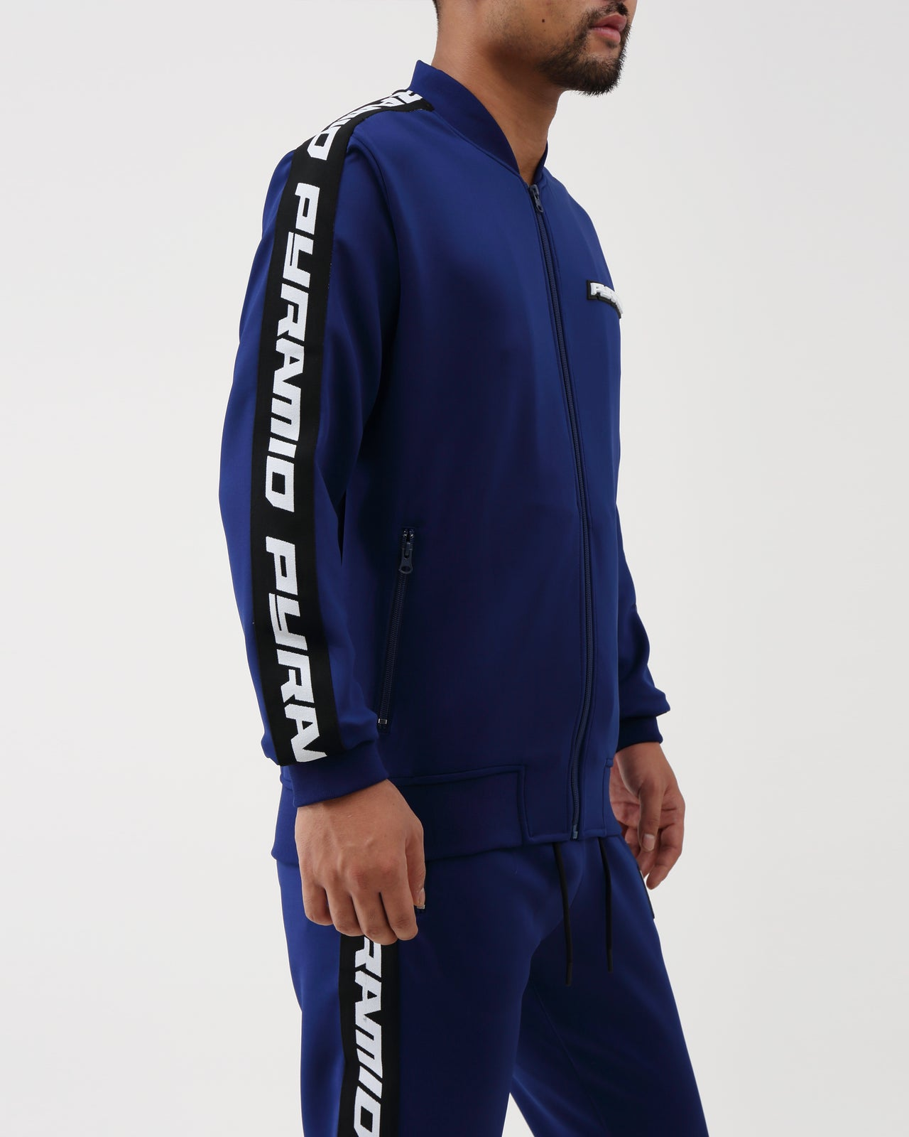 Pyramid Taping Track Jacket - Color: Navy | Blue